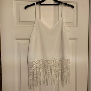 White Monteau tank top